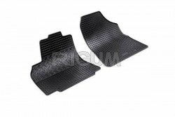 Резиновые коврики Citroen Berlingo 2008- черные 2 шт. Rigum