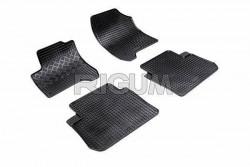 Резиновые коврики Citroen C3 Picasso 2009- черные 4 шт. Rigum