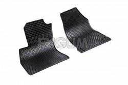 Резиновые коврики Fiat Doblo 2010-2015 черные 2 шт. Rigum