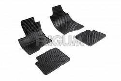 Резиновые коврики Fiat Panda 2012- черные 4 шт. Rigum