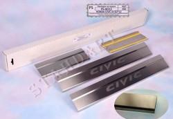 Накладки на пороги Honda Civic 5 дверей 2012- Standart