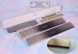 Накладки на пороги Hyundai I30 2012- Standart