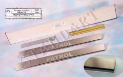 Накладки на пороги Nissan Patrol 1998-2010 Standart