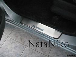 Матовые накладки на пороги Daihatsu Terios 2006- Premium