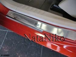 Матовые накладки на пороги Dodge Caliber 2006- Premium