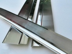 Матовые накладки на пороги Infiniti G купе 2007-2013 Premium