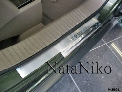 Матовые накладки на пороги Jeep Compass 06-10, 11- Premium