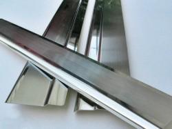 Матовые накладки на пороги Lada Kalina 2006-2013 Premium