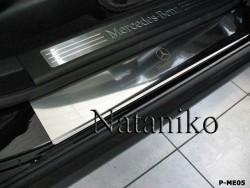 Матовые накладки на пороги Mercedes ML 2005-2011 Premium