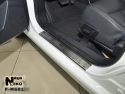 Матовые накладки на пороги MG 350 2012- Premium