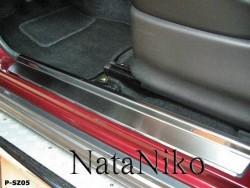 Матовые накладки на пороги Suzuki Jimny 1998- Premium