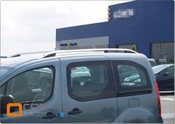 Рейлинги Citroen Berlingo 2008- алюминиевые Crown