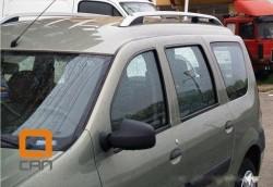 Рейлинги Dacia Logan 2007- алюминиевые Crown