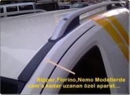 Рейлинги Fiat Fiorino 2007- алюминиевые Crown