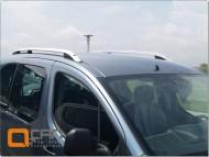Рейлинги Peugeot Partner 2008- алюминиевые Crown