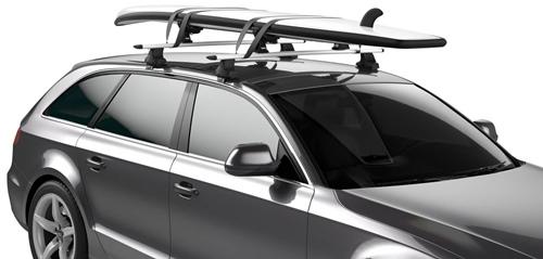 закрепить доску для серфинга на крыше