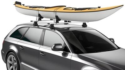 закрепить каное на крыше авто